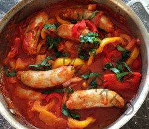 Chicken Sausage and peppers - Tifosi Sports