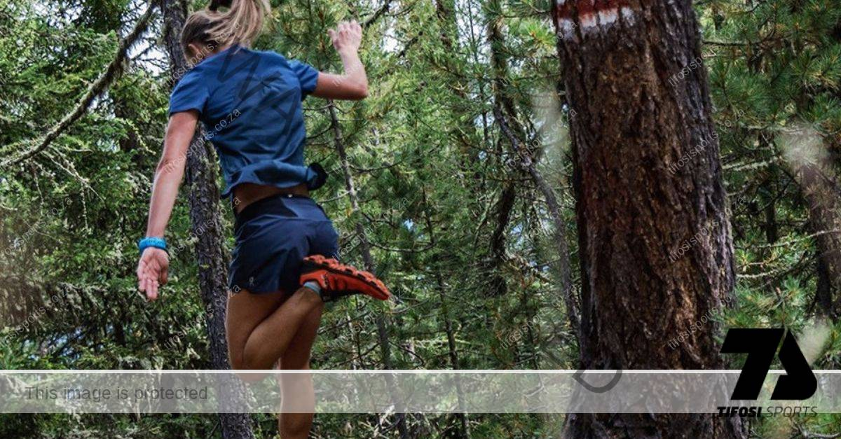 Athlete running a trail with On CloudVenture - Tifosi Sports
